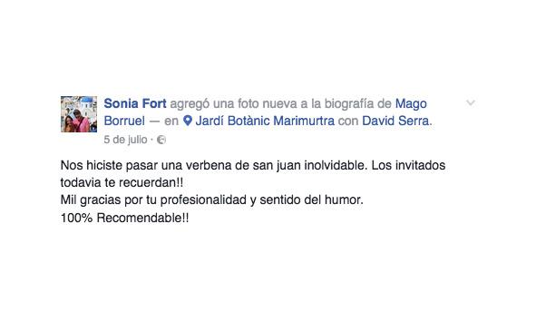 opinión contratar Mago Borruel en boda Barcelona