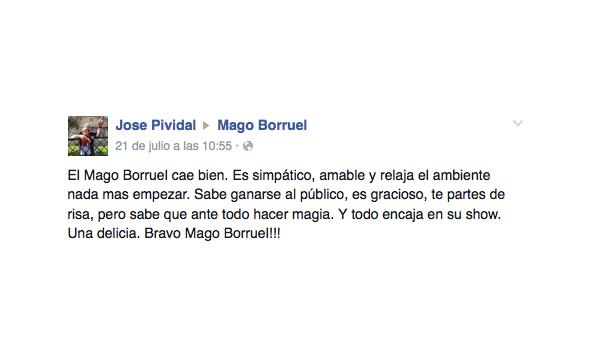 opinión 50 aniversario Mago Borruel