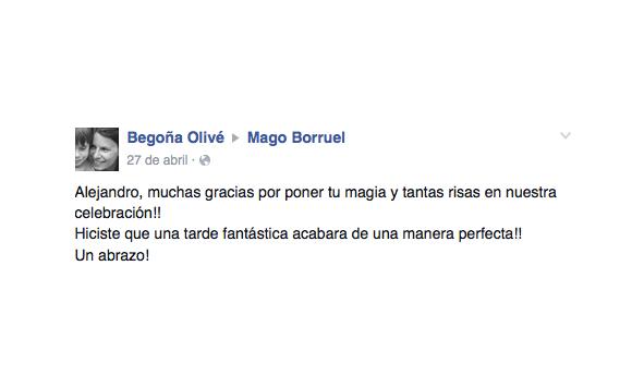 opinión comunión Mago Borruel